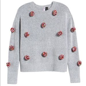 NWT Love by Design Pompom Sweater